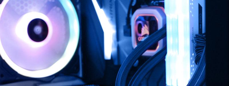 Exemples d'éclairages RGB sur un PC Gaming